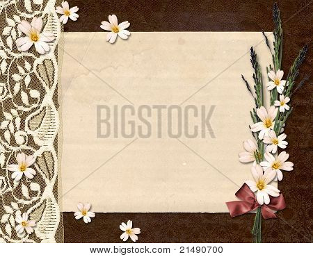 Framework For Congratulation. Abstract Vintage Background.