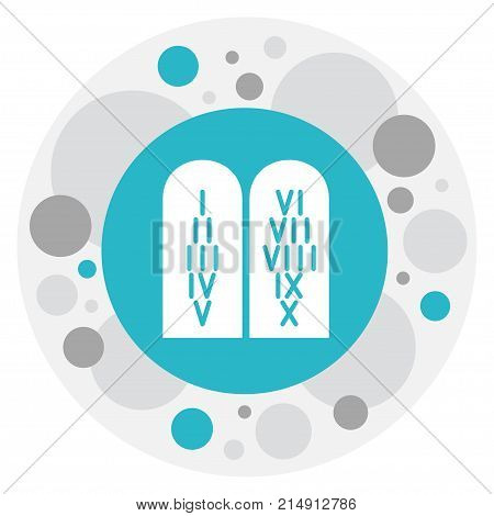Vector Illustration Of Religion Symbol On Commandments Icon