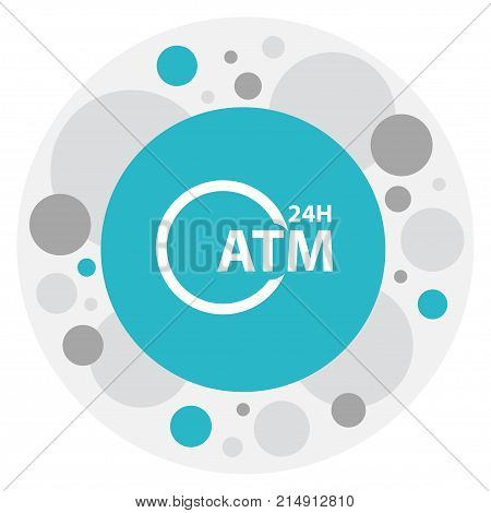Vector Illustration Of Financial Symbol On Automatic Teller Machine Icon