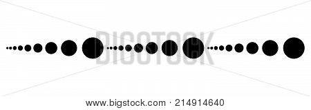 Dot Line Simple Page Footer Vector Design