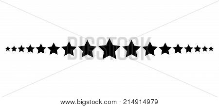 Star Line Divider Vector Design Footer Modern Border