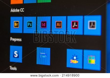 Adobe Suite Closeup Software Pre-press Package Design