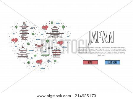 Love Japan Poster Vector Photo Free Trial Bigstock
