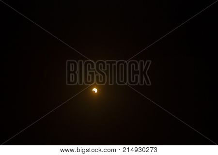 The sun being uncovered by the moon after the 2017 total eclipse in Salem, Oregon.