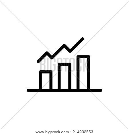 Growth line icon. High quality black outline logo for web site design and mobile apps. Vector illustration on a white background.