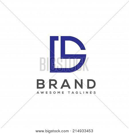 Letter DS elegant  concept for Alphabetical Logo Design Concepts. ds letter business logo concept