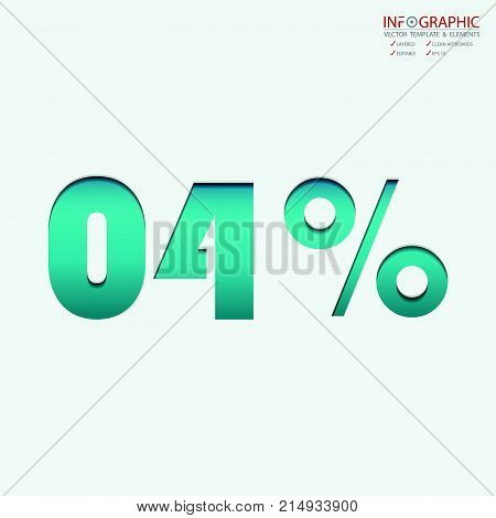 Vector abstract element infographics 04 number percentage. Design for business or finance template layout workflow information or presentation and other. Can add infodata and icon. Abstract 3D vector.