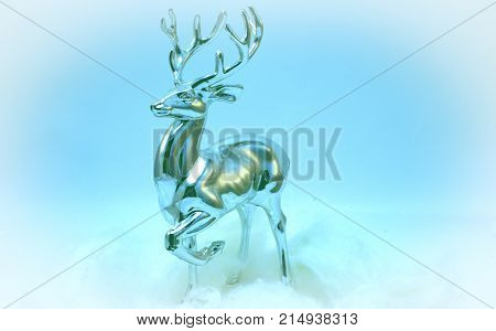 Noble Christmas deer Dasher (or Swift).   The tradition to use Christmas deer in the New Year holidays originated with North America and Canada.  It has gained popularity all over the world.  The deer became an indispensable attribute of Christmas thanks