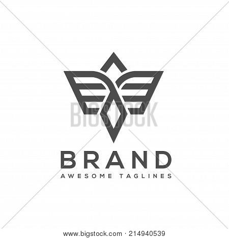 best simple Vector wings logo , Winged logo company and icon wing flying, eagle wing brand and logotype wing bird illustration