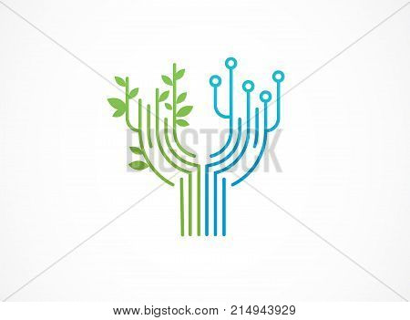 Logo - technology, biotechnology, tech icons and symbols