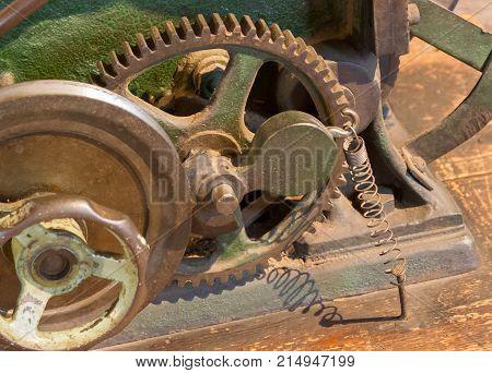 Inside Mechanism, Of An Old Machine