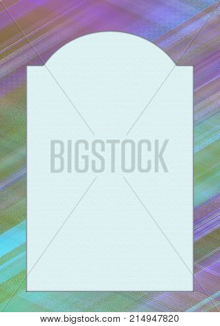 Bright multicolored vertical picture frame A4. Stylish creative decoration textured large space for photo picture or text. Mock up template, layout