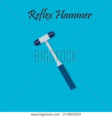 Percussion hammer for medicine testing. reflex hammer. Medical equipment