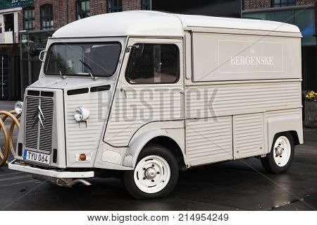 White Citroen H Van, 1969 Model, Close Up