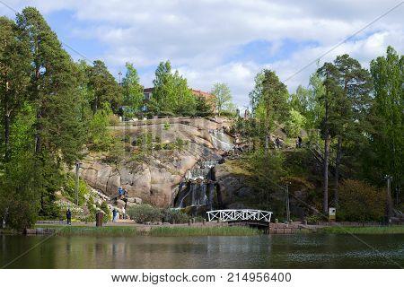 KOTKA, FINLAND - JUNE 03, 2017: A June day in the Sapokka landscape park