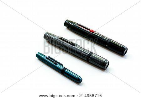 Lenspen For Photographer: Useful Equipment On The White Background