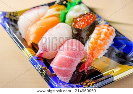 Sushi set from fresh japan department store