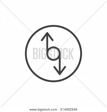 Up down resize arrows line icon, outline vector sign, linear style pictogram isolated on white. Symbol, logo illustration. Editable stroke