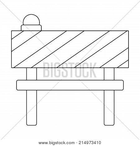 Barrier single icon in outline style.Barrier vector symbol stock illustration .