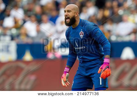CARSON, CA - OCT 30: Time Howard during the MLS Playoffs Semifinals - Leg 1 between the Colorado Rapids & the Los Angeles Galaxy on October 30th 2016 at the StubHub Center.