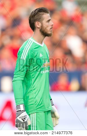 CARSON, CA - JULY 15: David De Gea during Manchester United's summer tour friendly against the L.A. Galaxy on July 15th 2017 at the StubHub Center.