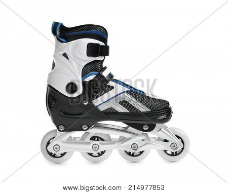 One roller skate, isolated on white