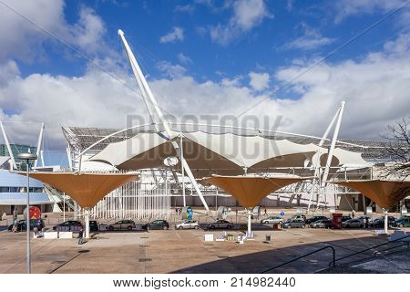 Lisbon, Portugal - February 01, 2017: FIL - Feira Internacional de Lisboa or International Fair of Lisbon. Parque das Nacoes or Park of Nations