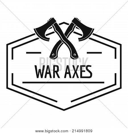 War axe logo. Simple illustration of war axe vector logo for web