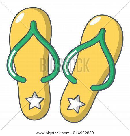 Flip flops icon. Cartoon illustration of flip flops vector icon for web