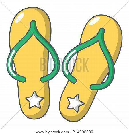 Flip flops icon. Cartoon illustration of flip flops vector icon for web