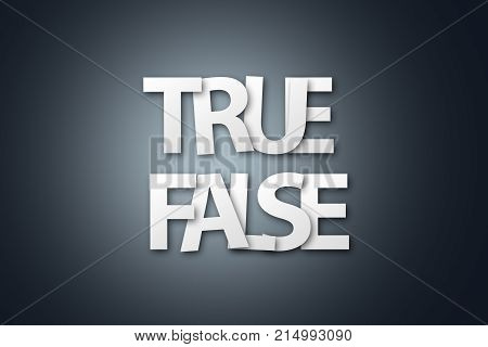 Word Of True False Written With White Paper Letter