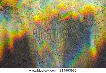 Abstract multicolored rainbow background (refraction of sun light on a stone background)