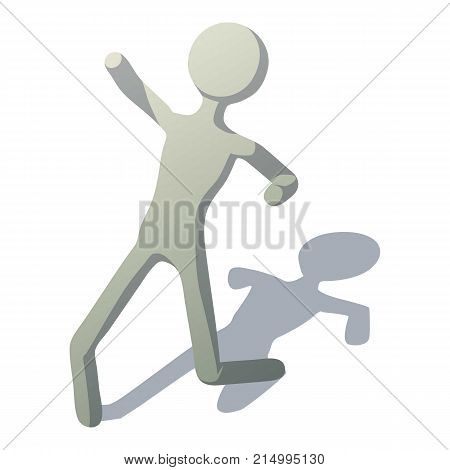 Stick man slipped icon. Isometric illustration of stick man slipped vector icon for web
