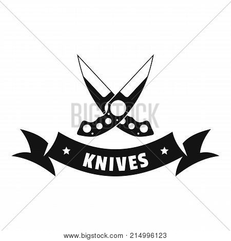 Knive weapon logo. Simple illustration of knive weapon vector logo for web