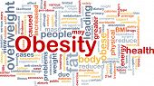 Background concept wordcloud illustration of obesity fat overweight poster