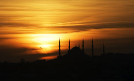 Sunset over the Blue Mosque
