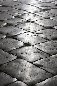 Black cobblestone street in Old Dubrovnik (Croatia)