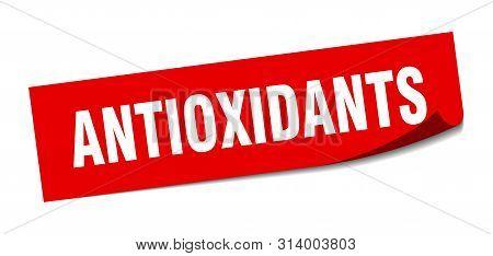 Antioxidants Sticker. Antioxidants Square Isolated Sign. Antioxidants