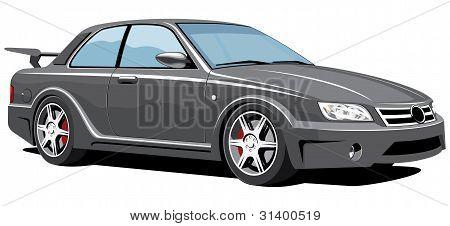 Black sports car (my car design)