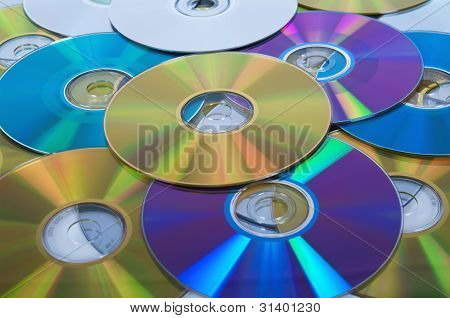 Some Colorful Compact Discs