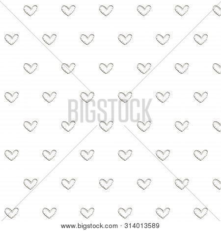 Vector Retro Pattern With Hearts. Can Be Used For Wallpaper, Pattern Fills, Web Page Background.
