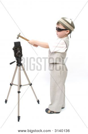 A Child Influences A Camera