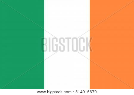 Ireland Flag. Brush Painted Ireland Flag. Hand Drawn Style Illustration With A Grunge Effect And Wat