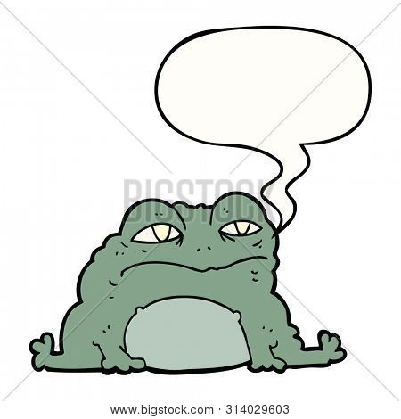 cartoon toad with speech bubble
