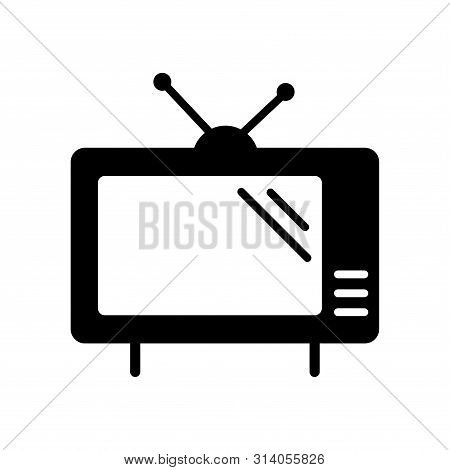 Television Icon In Trendy Flat Style Isolated On White Background