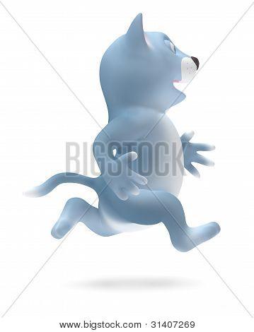 Cat runs