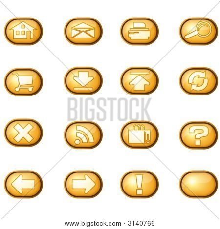 Web Icons A, Yellow