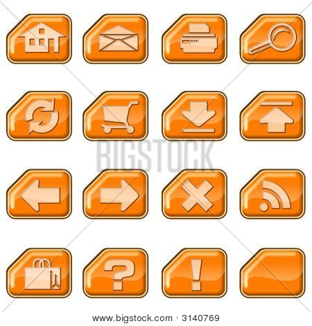 Web Icons B, Orange