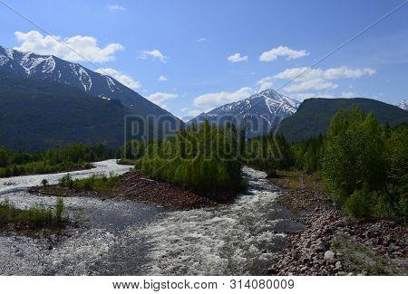Sakukan River At Warm Sunny Summer Day At Siberia