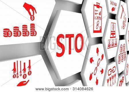 Sto Concept Cell Background 3d Render Illustration